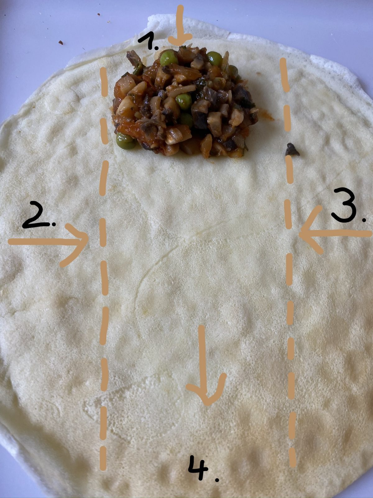 how to fill savoury crepes